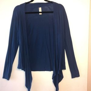 The Banana Republic Navy Blue Long Sleeve Cardigan